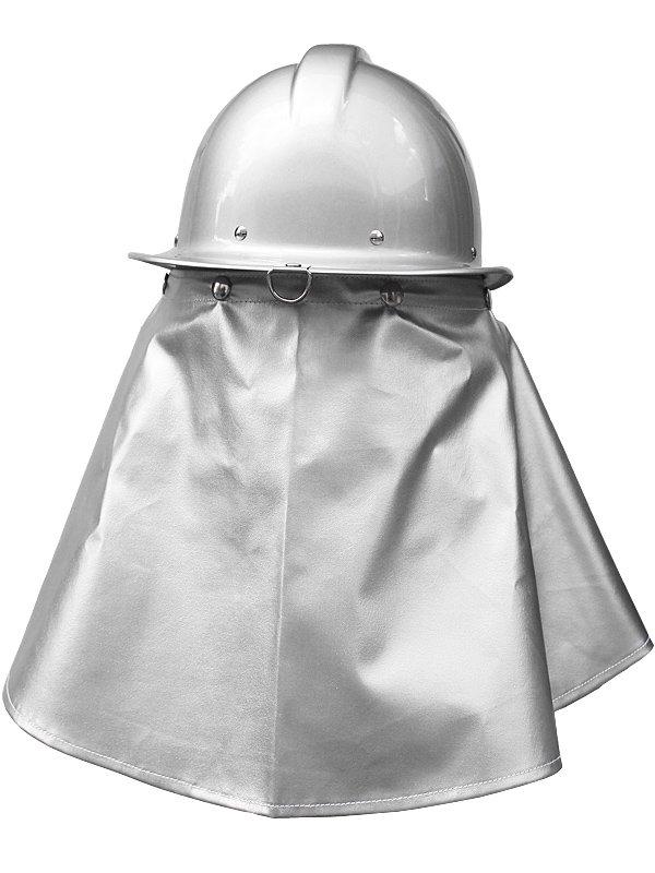 FD-2 消防団新ガイドライン シールド付きシルバーヘルメット シコロ付き スチロール入【画像8】