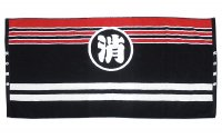 2つ穴ベルト バスタオル(消防団法被デザイン)厚手1100匁今治タオル