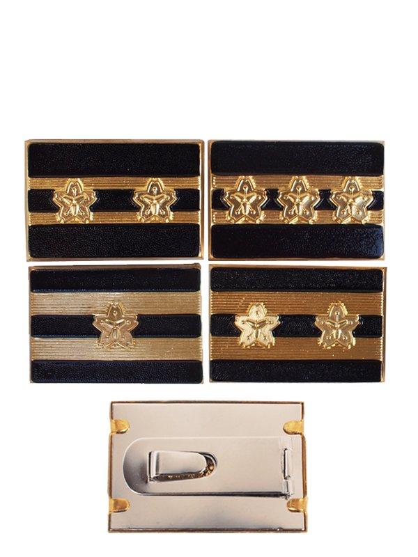 消防団員金属製階級章座金式