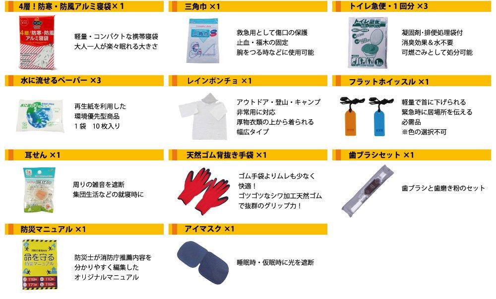 【3日間安心】SAFETY FIRST 最新版 防災セット 一人用 命を守る 46点【画像4】