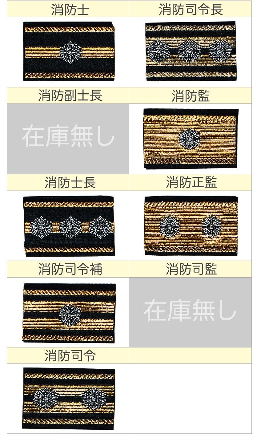消防吏員用布製階級章:2【画像3】