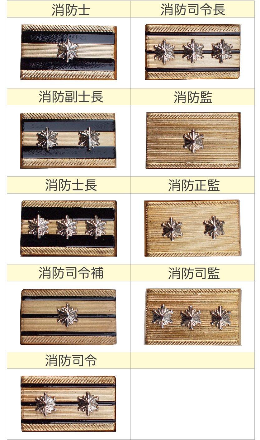 消防吏員用金属製階級章【画像3】