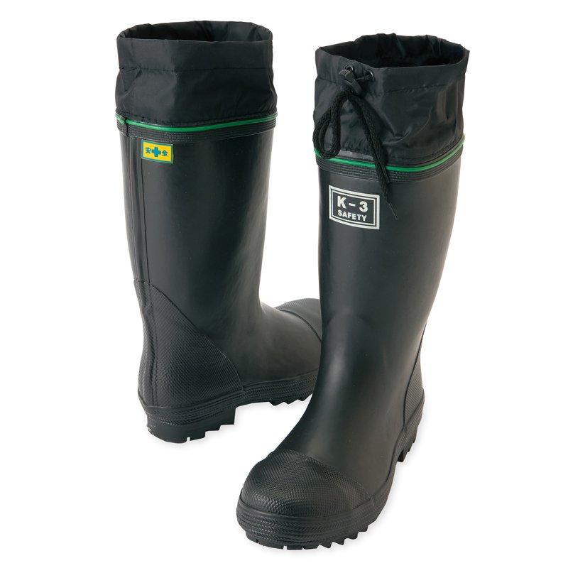 安全ゴム長靴(踏み抜き抵抗板入り)(K−3)【画像2】