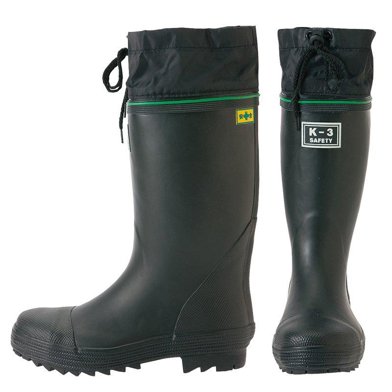安全ゴム長靴(踏み抜き抵抗板入り)(K−3)【画像3】