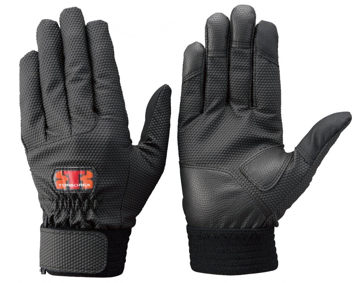 トンボレックス E-855BK 新合皮手袋(ハンディータッチ)