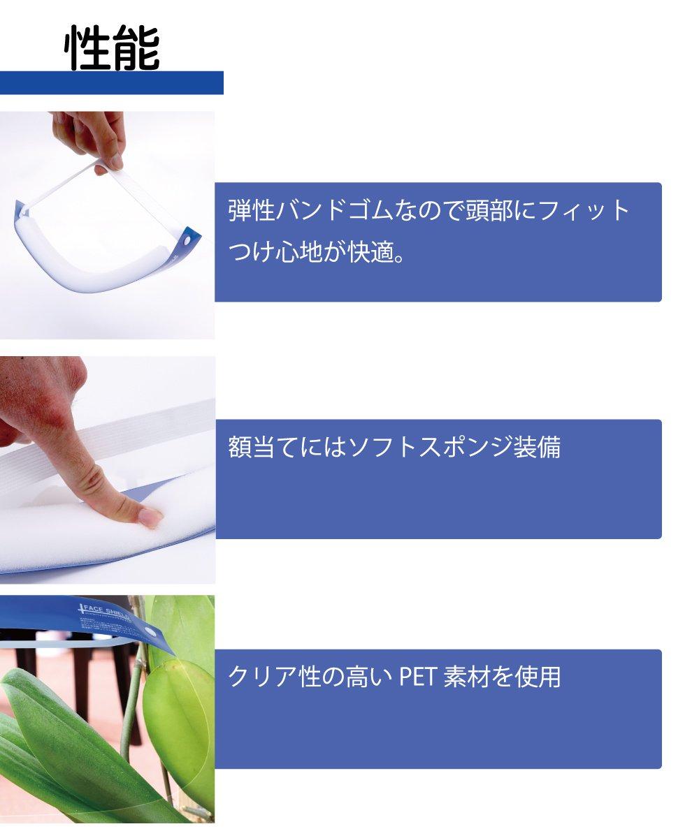 フェイスシールド  10枚セット(180円/枚) 【画像4】