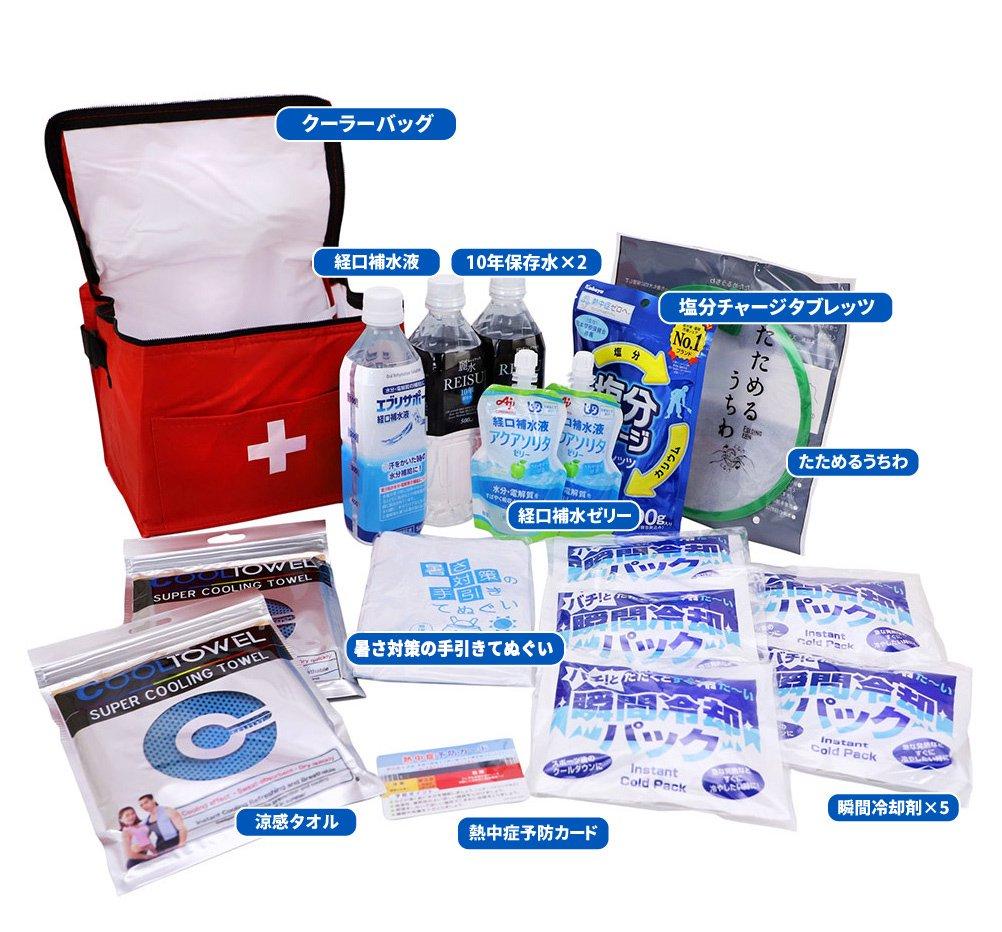 熱中症対策キットDX(デラックス) クーラーバッグに入った応急処置セット 熱中症対策グッズ【画像3】