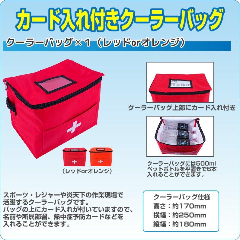 熱中症対策キットDX(デラックス) クーラーバッグに入った応急処置セット 熱中症対策グッズ【画像4】