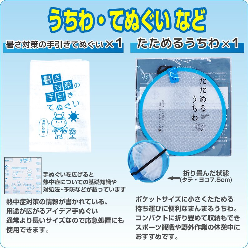 熱中症対策キットDX(デラックス) クーラーバッグに入った応急処置セット 熱中症対策グッズ【画像8】