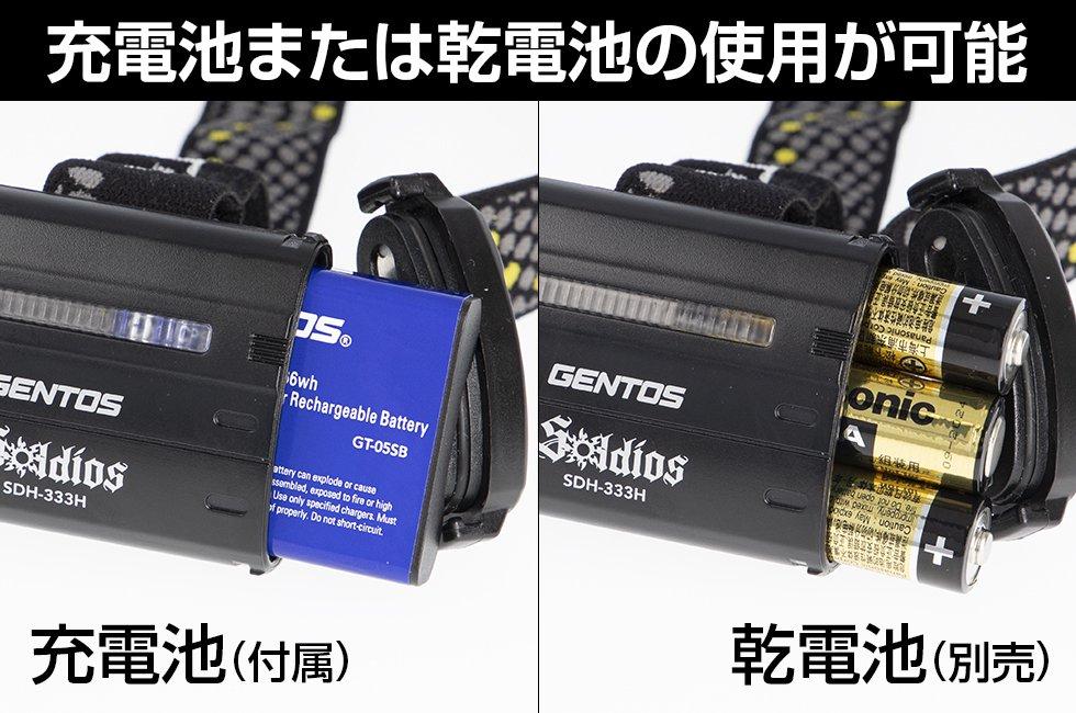 Soldiosシリーズ SDH-333H  GENTOS ジェントスヘッドライト【画像4】