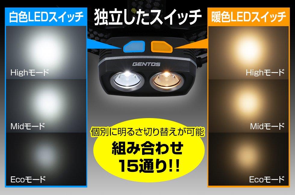 Soldiosシリーズ SDH-332D  GENTOS ジェントスヘッドライト 【画像3】