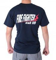 簡易トイレ・救急・衛生 FIRE FIGHTER Call119 デザインTシャツ
