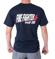 消防活動服(防災服・作業服) FIRE FIGHTER Call119 デザインTシャツ
