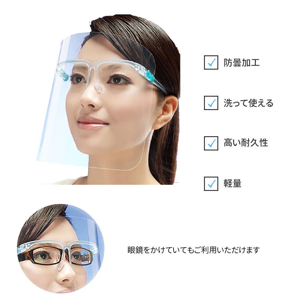 眼鏡型 フェイスシールド 【画像3】