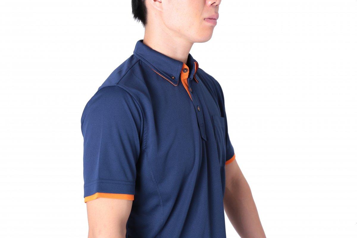 消防ポロシャツ(半袖 消臭機能付き)【画像3】