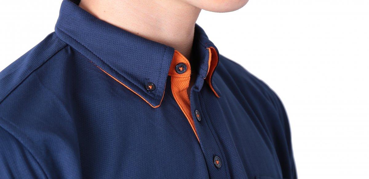 消防ポロシャツ(半袖 消臭機能付き)【画像4】