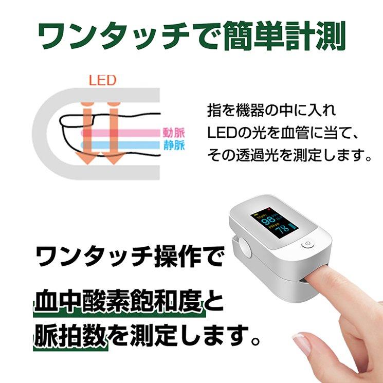 血中酸素濃度計 測定器【日本語説明書付き 保証書付】【画像6】