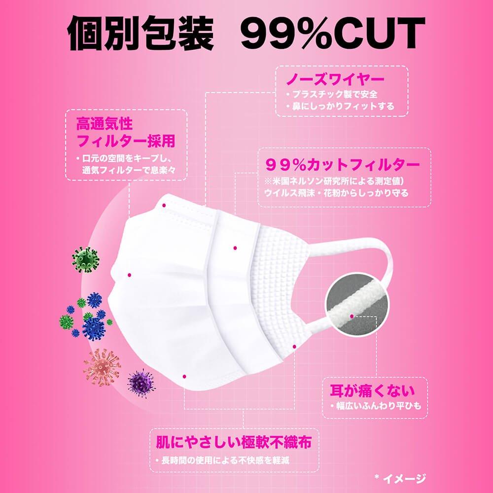 suppina 個包装マスク 女性・子供用 50枚入【画像5】