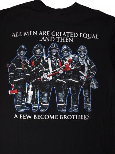 All Men Are Created Equal 消防Tシャツ
