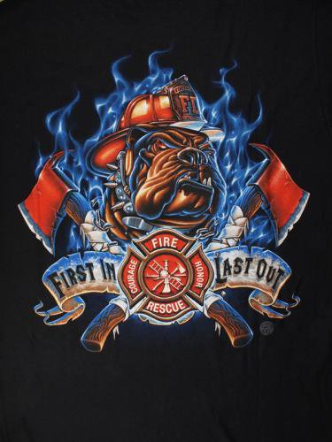 First In Last Out 消防Tシャツ