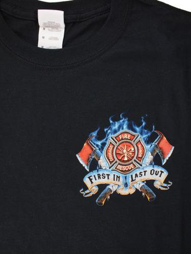 First In Last Out 消防Tシャツ【画像4】