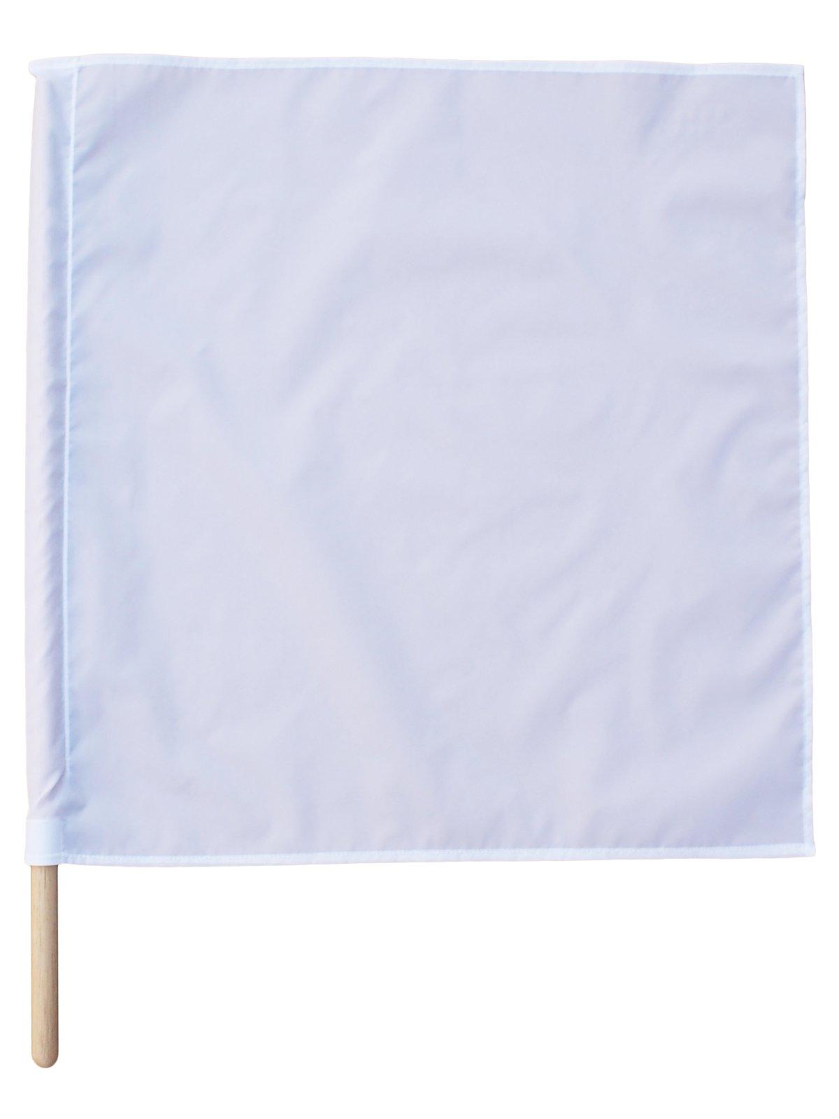 紅白手旗(旗棒付)大 50×50cm【画像3】