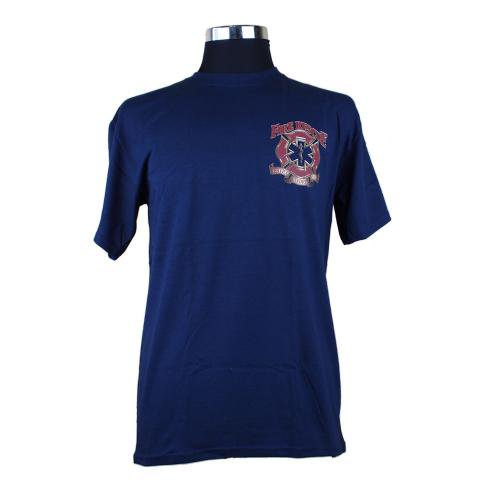 red Fire Rescue Service Before Selfe 消防Tシャツ【画像3】