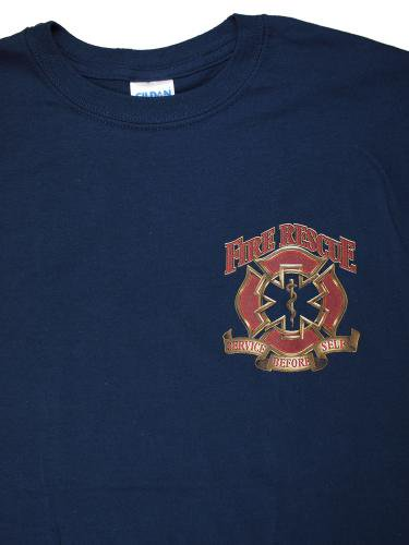 red Fire Rescue Service Before Selfe 消防Tシャツ【画像4】