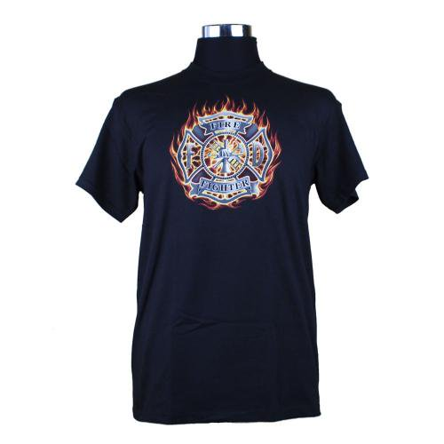 Firefighter Eagle and Flame 消防Tシャツ【画像2】
