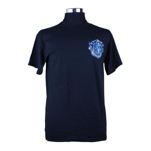 blue Fire Rescue Service Before Self 消防Tシャツ【画像2】