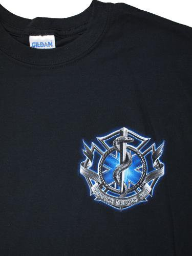 blue Fire Rescue Service Before Self 消防Tシャツ【画像4】
