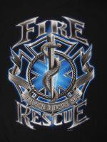 blue Fire Rescue Service Before Self 消防Tシャツ