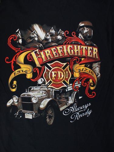 Always Ready Firefighter 消防Tシャツ