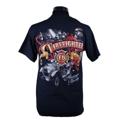 Always Ready Firefighter 消防Tシャツ【画像3】