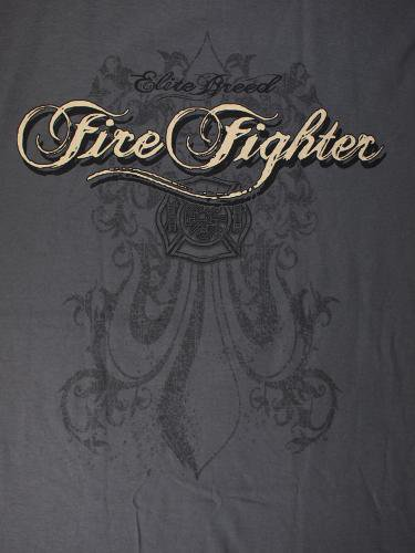 Firefighter, Elite Breed Gray 消防Tシャツ