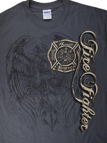 Firefighter, Elite Breed Gray 消防Tシャツ【画像4】