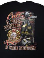 Once A Fire Fighter 消防Tシャツ