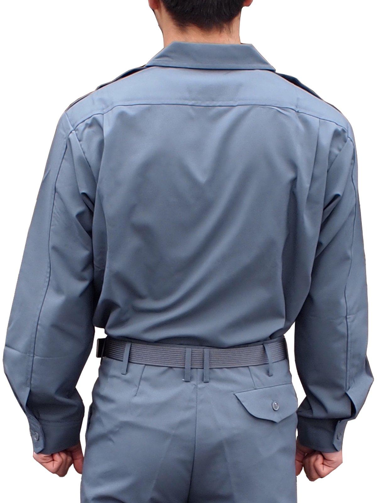 消防盛夏服(グレー)開衿長袖上衣【画像2】