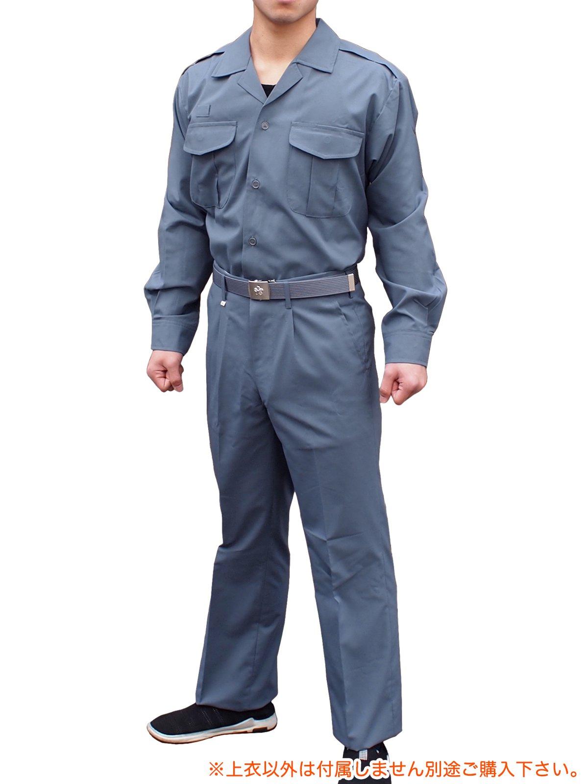 消防盛夏服(グレー)開衿長袖上衣【画像3】