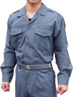 プリント可能商品【Tシャツ以外のウェア】 消防盛夏服(グレー)開衿長袖上衣