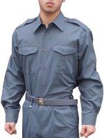 プリント可能商品【Tシャツ以外のウェア】 消防盛夏服(グレー)カッター長袖上衣