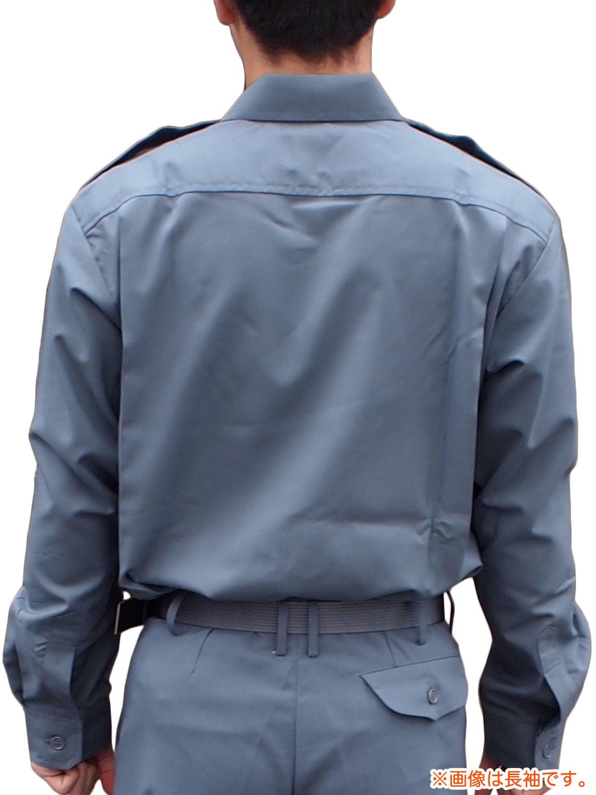 消防盛夏服(グレー)カッター半袖上衣【画像2】