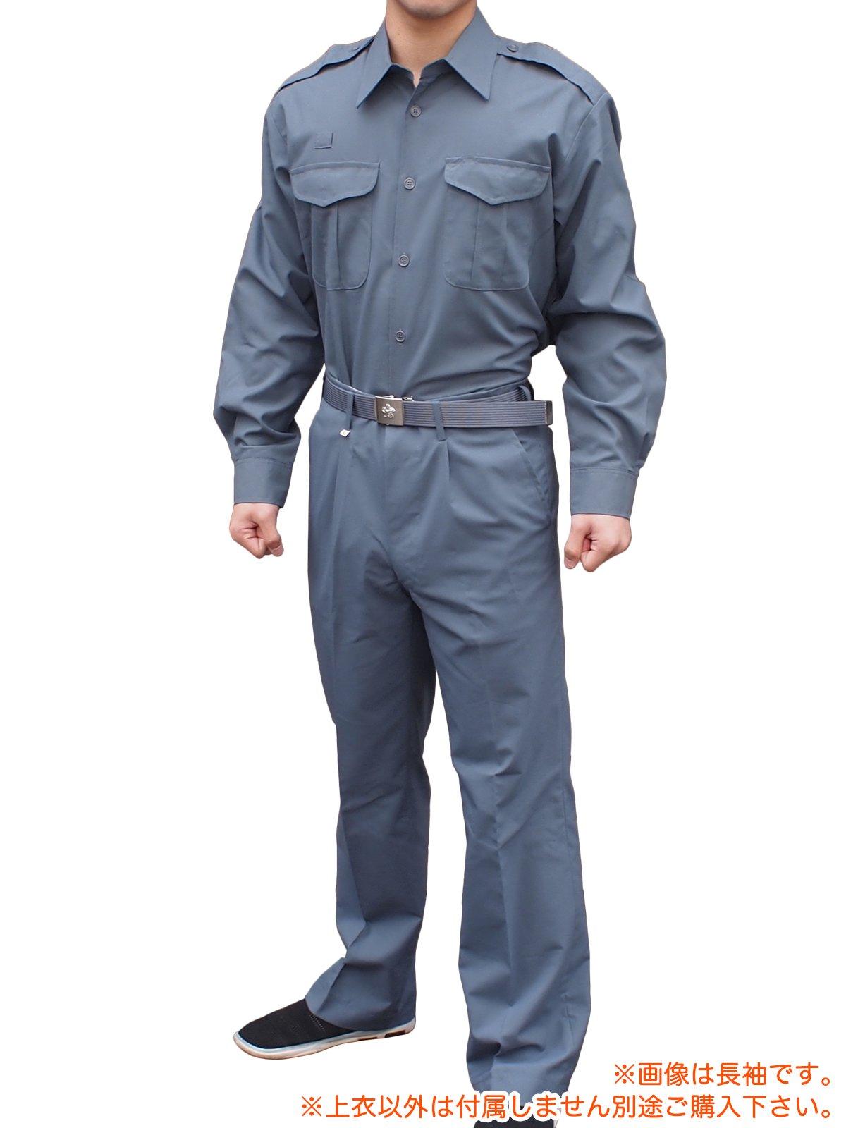 消防盛夏服(グレー)カッター半袖上衣【画像3】