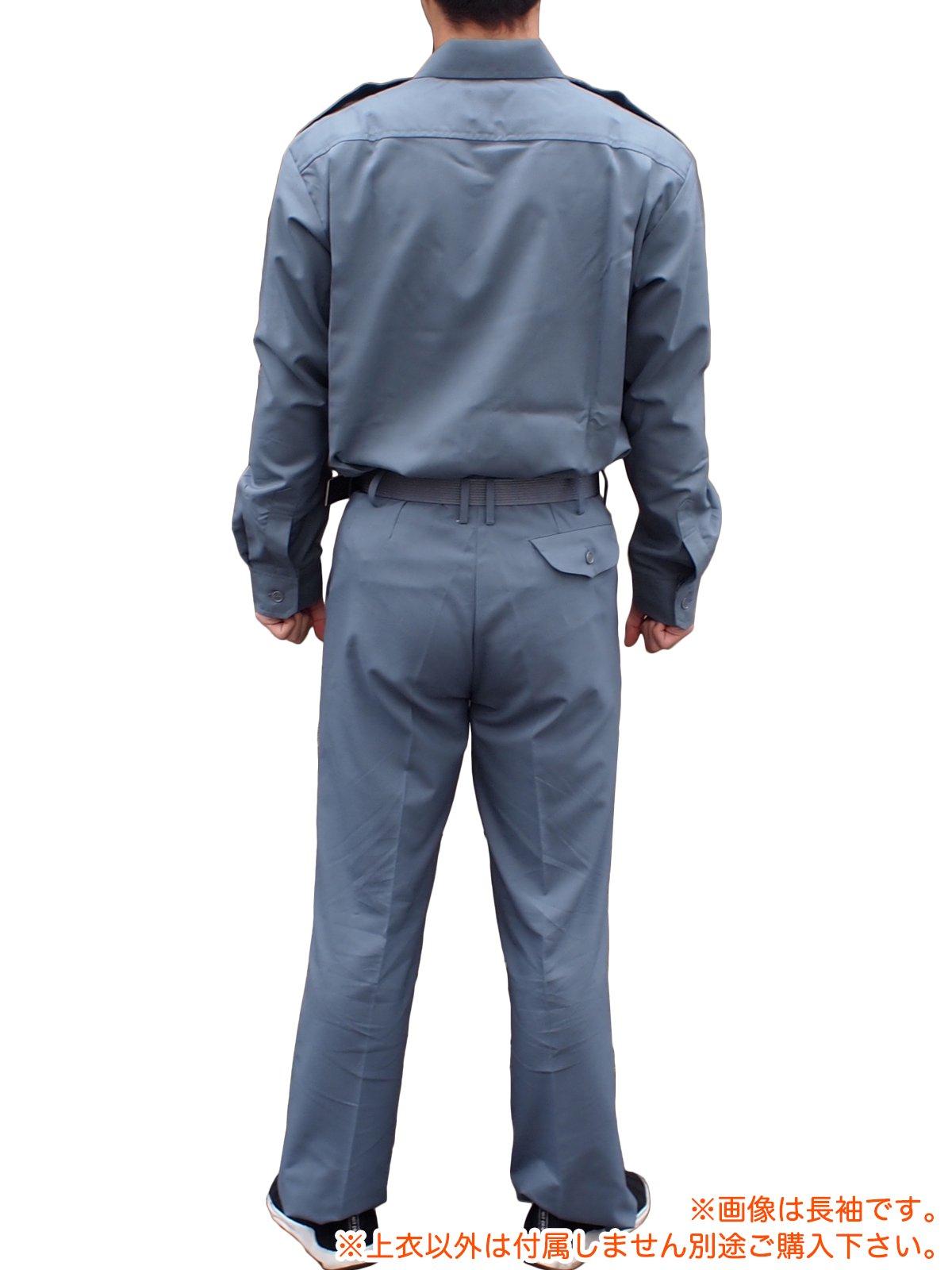 消防盛夏服(グレー)カッター半袖上衣【画像4】