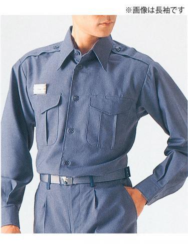 消防盛夏服(グレー)カッター半袖上衣【画像5】