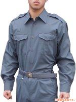 プリント可能商品【Tシャツ以外のウェア】 消防盛夏服(グレー)カッター半袖上衣