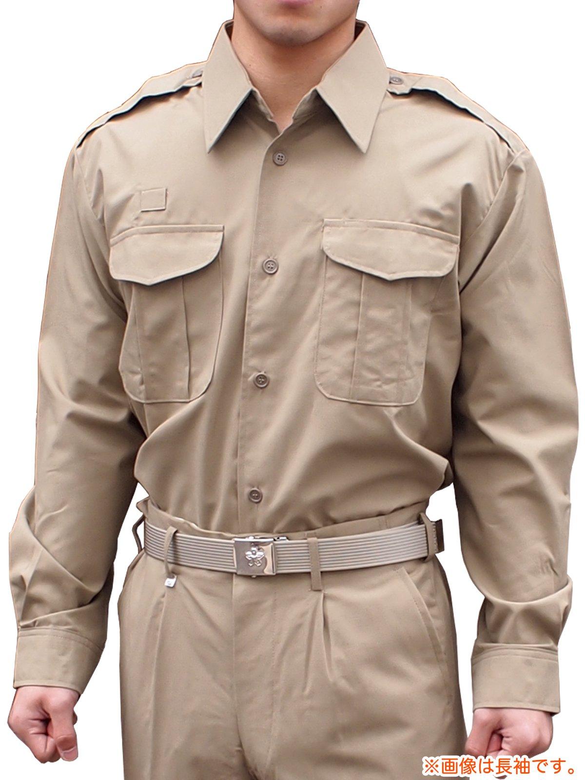 消防盛夏服(カーキ)カッター半袖上衣