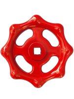 各種バルブ用ハンドル プレスハンドル鉄製 赤色