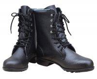 編上げ靴 牛革長編上靴