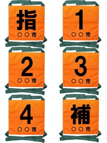 オリジナル操法用ゼッケン 文字プリント位置【下部】【画像2】